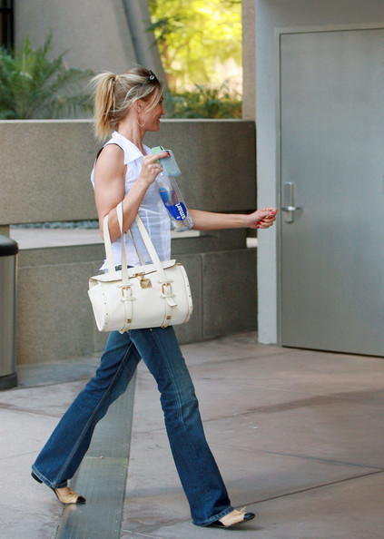 Cameron Diaz Buckled Tote