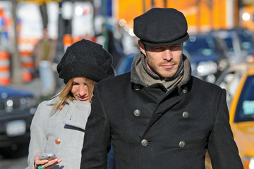Paul Sculfor Cameron Diaz Cameron Diaz and Paul Sculfor Walks Through the West Village