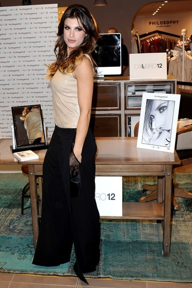 More Pics of Elisabetta Canalis Wide Leg Pants (5 of 10) - Elisabetta Canalis Lookbook - StyleBistro