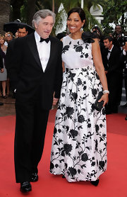 Grace looked graceful at the Cannes Film Festival in a black and white floral evening gown.