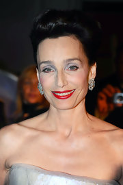 Kristin Scott Thomas showed off her voluminous updo while attending the Cannes Film Festival.