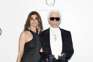 Carine Roitfeld Karl Lagerfeld Cinema Against AIDS amfAR Gala