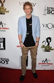 This powder blue blazer fit Cody Simpson perfectly!