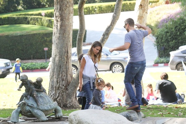 Jessica Alba and Family at the Park