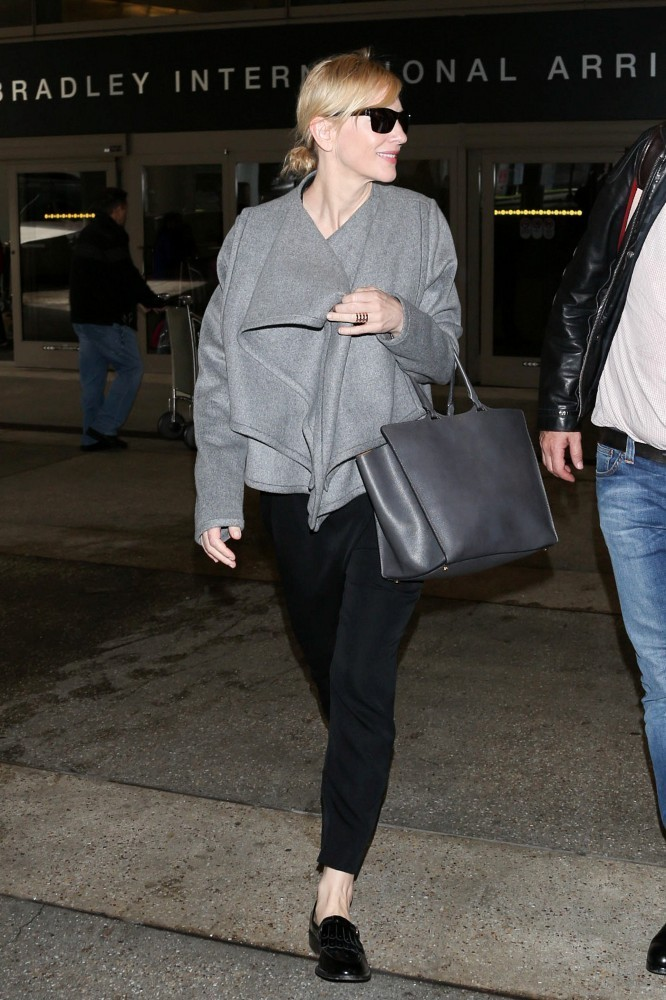 Cate Blanchett is seen at LAX airport.