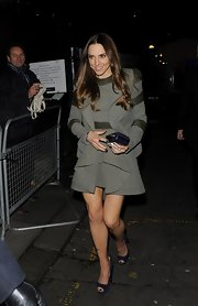 Mel C wore an ultra-chic frilly skirt suit to the Viva Forever after-party.