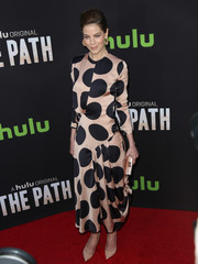 Michelle Monaghan rocked massive polka dots at the premiere of 'The Path'!