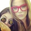 Khloe Kardashian Rocks Red Glasses