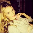 Rosie Huntington-Whiteley Bats Her Lashes