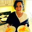 Demi Lovato Does Some Cooking
