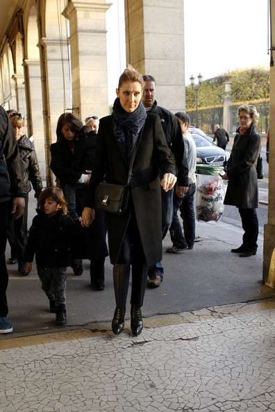 Celine Dion and Twins Leave Their Hotel