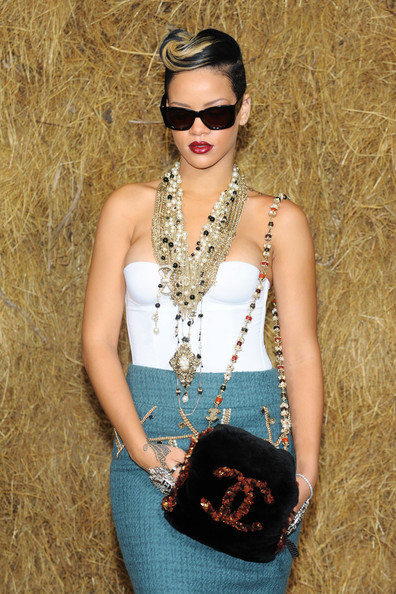 More Pics of Rihanna Layered Beaded Necklace (1 of 3) - Layered Beaded Necklace Lookbook - StyleBistro