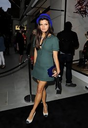 Bip Ling sported a greed tweed mini dress at the Chanel VIP Party in London.
