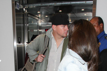 Channing Tatum Jenna Dewan-Tatum Channing Tatum and Jenna Dewan-Tatum Are Seen at LAX