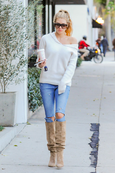 Charlotte McKinney Ripped Jeans