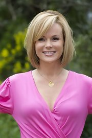 Amanda Holden wore a simple gold charm necklace to the Chelsea Flower Show press day.