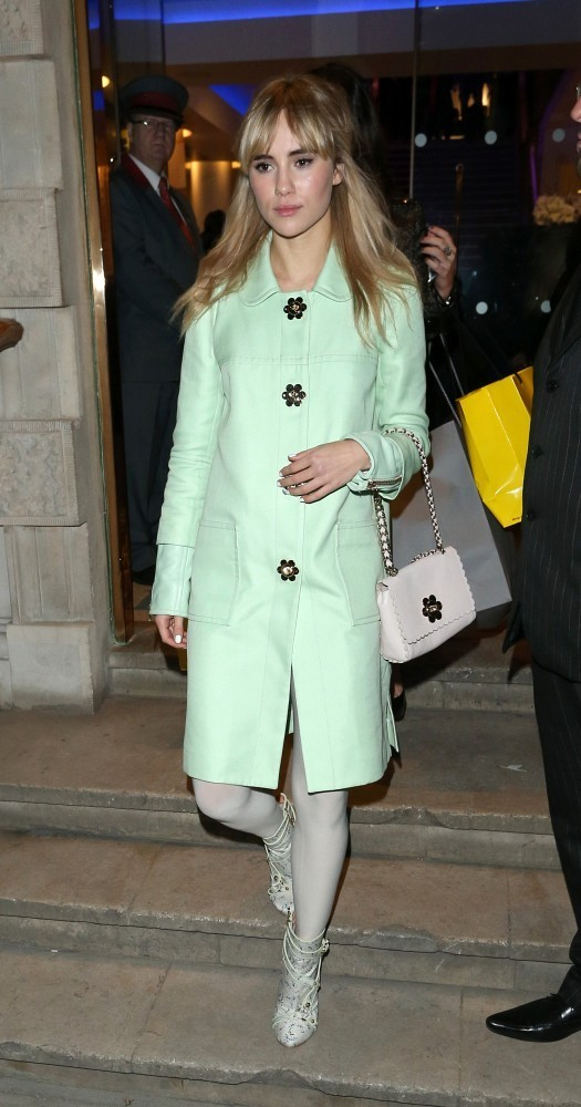 15th November 2012.  The Children in Need charity auction held at Christies, London.  Here, Suki Waterhouse.