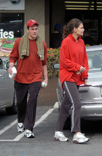 Chris Klein and Katie Holmes at Barry's Bootcamp