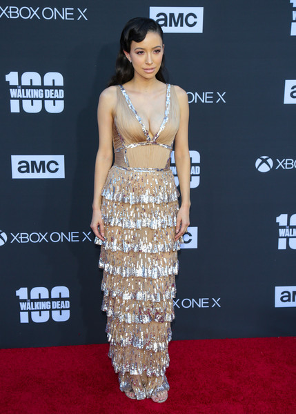 Christian Serratos Sequin Dress