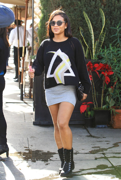 Christina Milian Mini Skirt