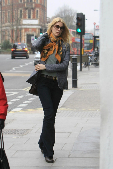 More Pics of Claudia Schiffer Patterned Scarf (1 of 6) - Patterned Scarf Lookbook - StyleBistro