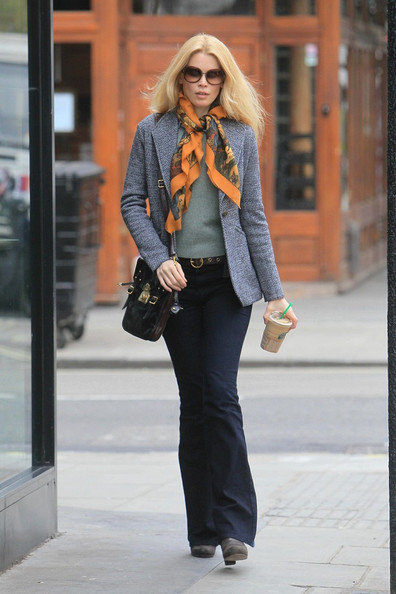 More Pics of Claudia Schiffer Patterned Scarf (6 of 6) - Claudia Schiffer Lookbook - StyleBistro