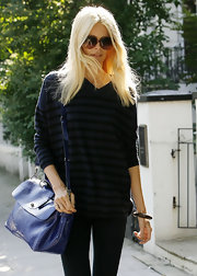 Claudia Schiffer was effortlessly chic in Notting Hill with a shiny patent Edie bag slung over her shoulder.