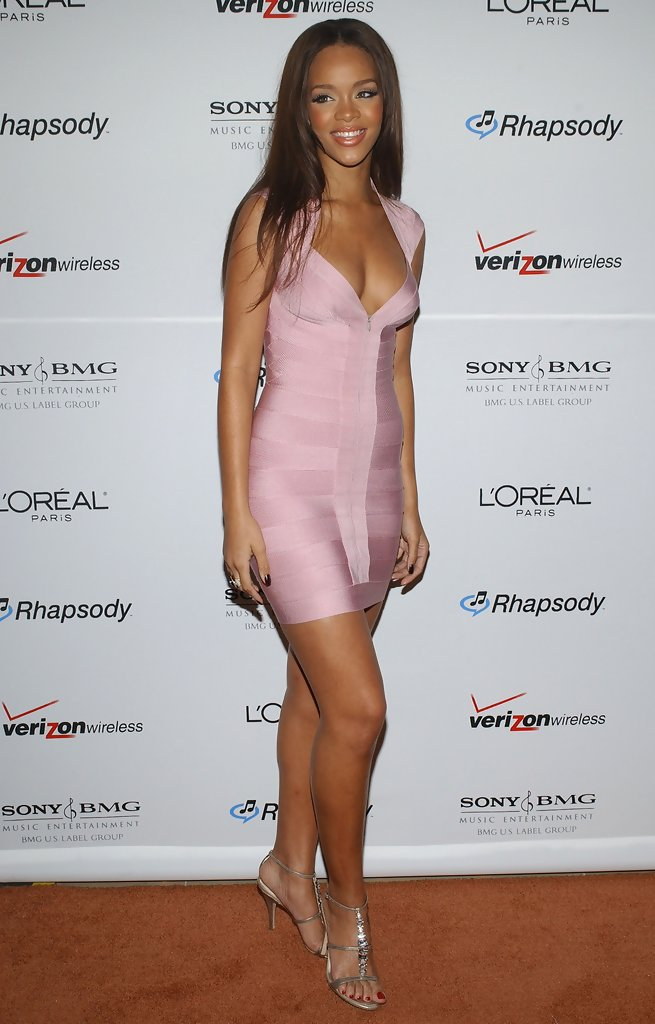 Rihanna in Clive Davis Pre-Grammy Party