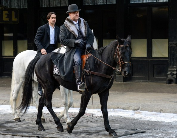 Colin Farrell and Russell Crowe Shoot 'Winter's Tale'