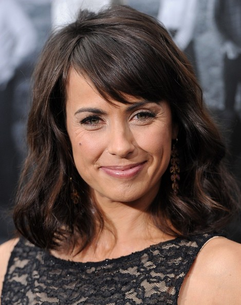 Constance Zimmer Medium Wavy Cut with Bangs