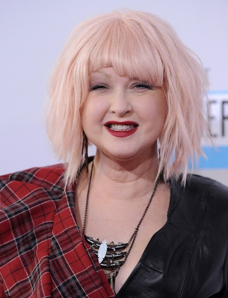 Cyndi Lauper Short Cut With Bangs