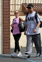 Hines Ward paired his gray athletic pants with a heather gray T-shirt emblazoned with the word 'ME.'