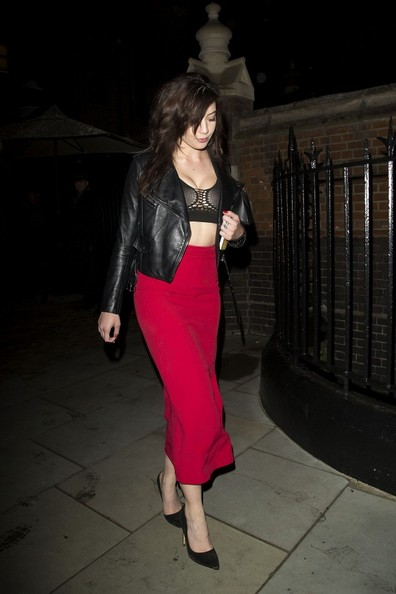 Daisy Lowe Leather Jacket []