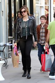 Daisy Lowe's leather moto jacket injected her laid-back look with a dose of punk style.