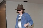 Dakota Johnson is seen at LAX.