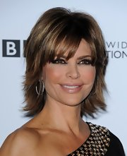 Lisa Rinna showed off her layered short cut while walking the red carpet at the 'Dancing with the Stars' 200th episode.