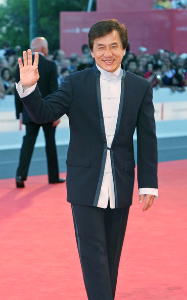 Jackie looks fantastic in his suit at the Venice Film Festival.