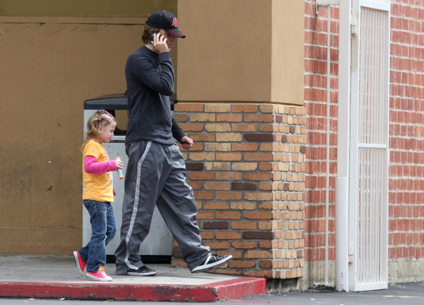 Larry Birkhead Takes His Daughter to CVS