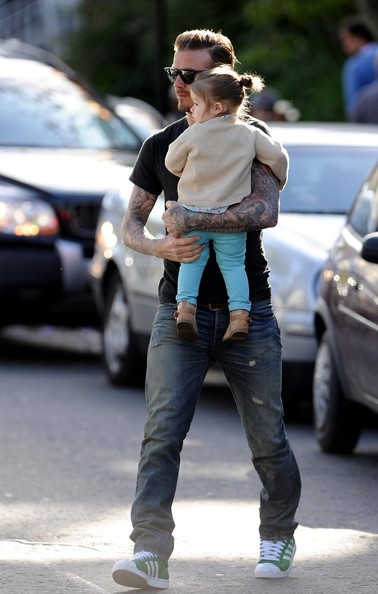 David Beckham Spends the Day With Harper