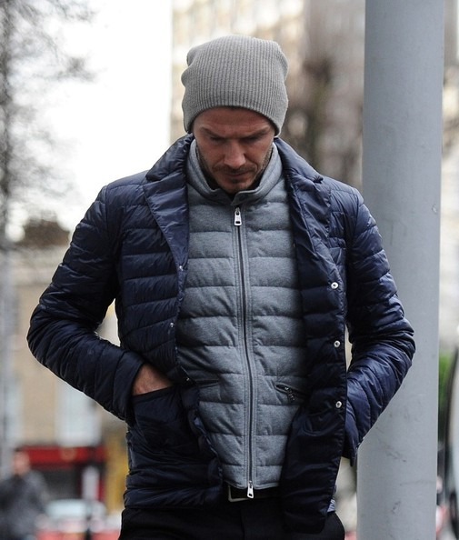 More Pics of David Beckham Puffa Jacket (2 of 10) - David Beckham Lookbook - StyleBistro