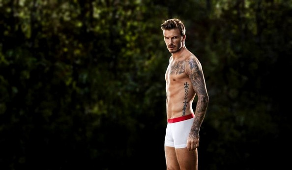 For H&M's new ad campaign, David Beckham wore boxer briefs.