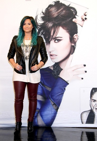 Demi Lovato Lace Up Boots