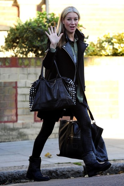 Denise van Outen Studded Tote