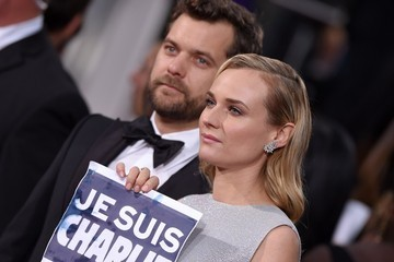 Diane Kruger Joshua Jackson Arrivals at the Golden Globe Awards