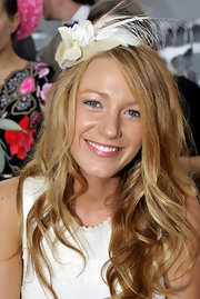 Blake channeled her inner Carrie Bradshaw and sported a chic, mini, feathered hat.