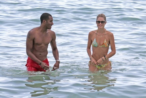 Doutzen Kroes and Sunnery at the Beach