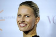 Karolina Kurkova opted for a simple slicked-back bun when she attended the Dream for Future Africa Foundation Gala.