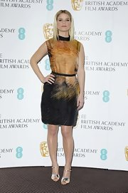 We loved the artistic edge of Alice's abstract print dress at the EE British Academy Film Awards Nominations.
