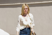 Elle Fanning Denim Skirt