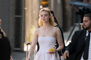 Elle Fanning Slide Sandals